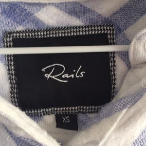 Rails Tops - Rails blue and white flannel
